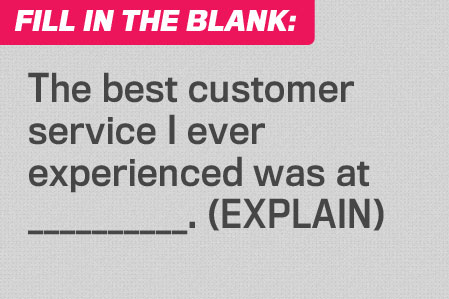Fill in the Blank: Perfect Service
