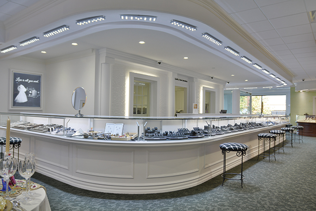 Bridal jewelry area from Bailey's Fine Jewelry
