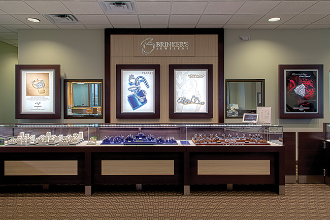 Brinker's Jewelers bridal area