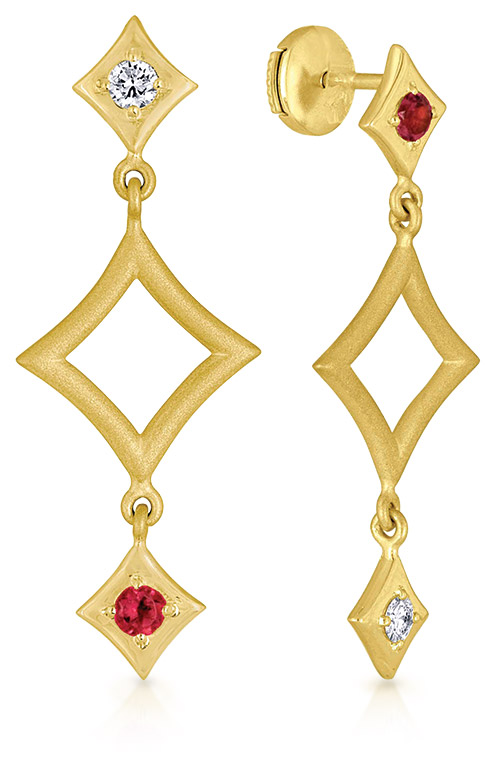 Harlequinade earrings from Jemily Fine Jewelry