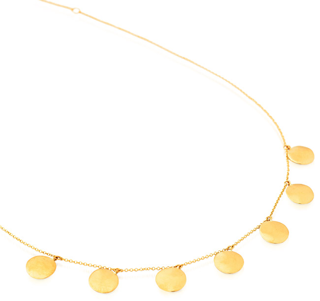 18K gold disc necklace from Anne Sportun