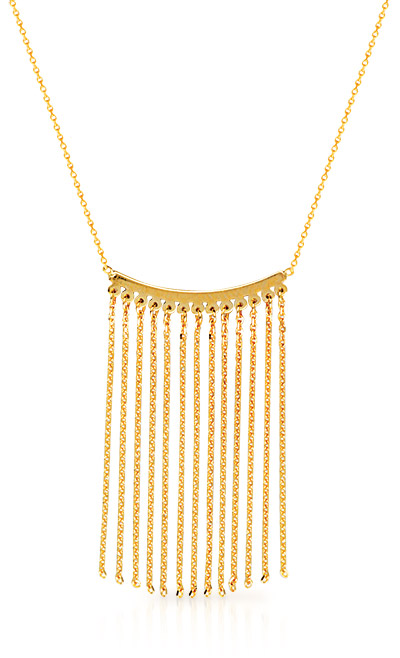 Gold fringe necklace from Midas Chain