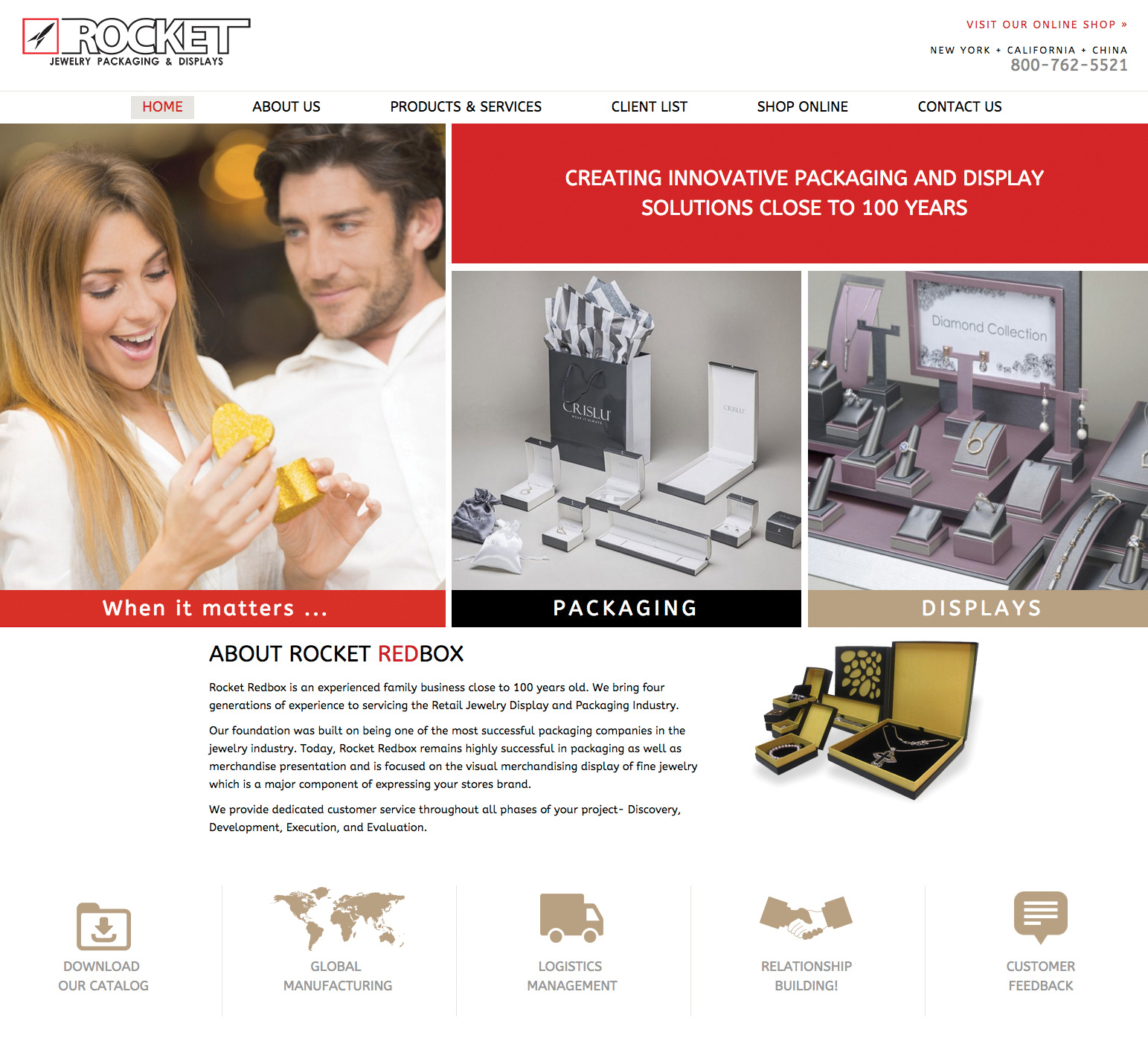 Rocket Presents New Packaging and Display Supplies and More Services for March