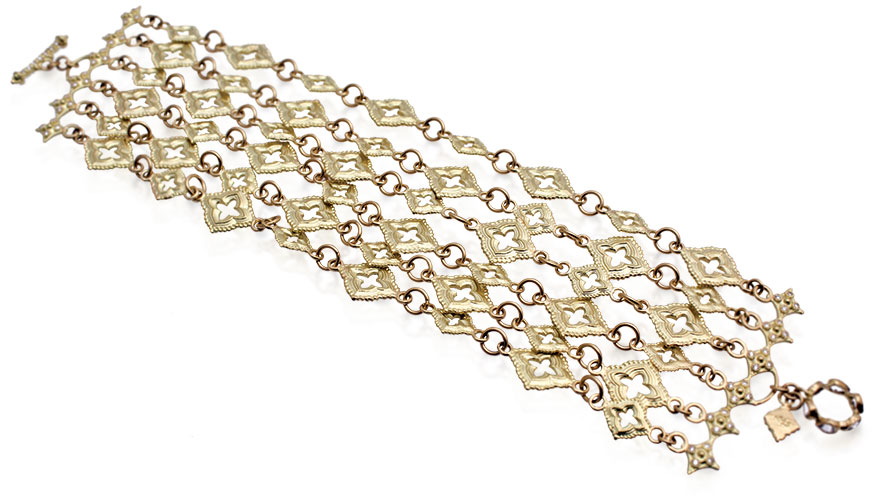 Armenta Collection Sueno 18K yellow gold crivelli-bar scroll chain bracelet