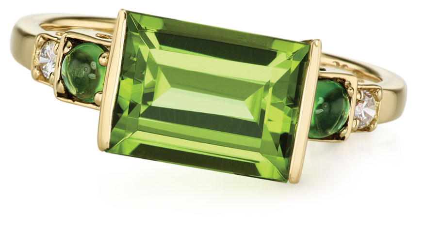 Horizontal baguette ring from Jane Taylor