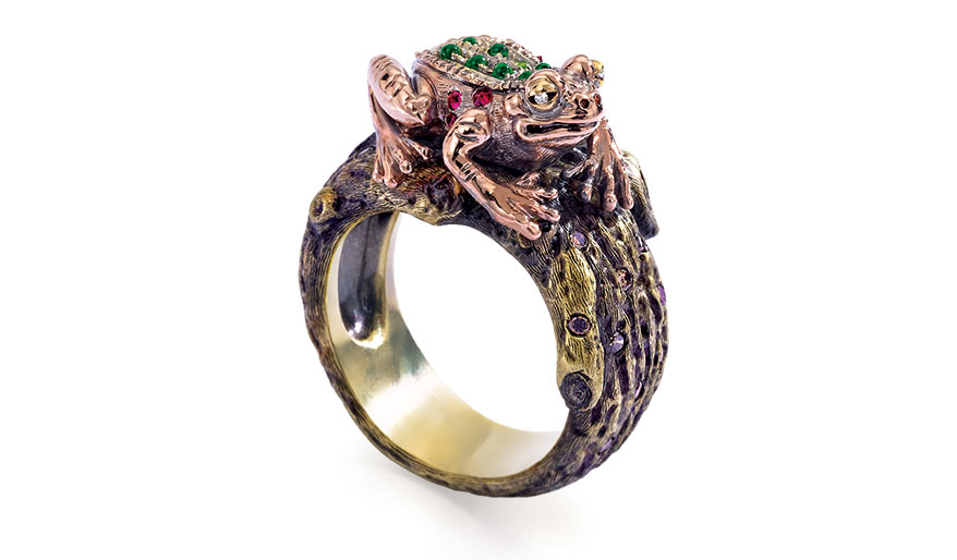 Wendy Brandes Frog and Prince Man Eater ring