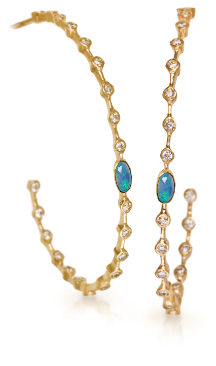Celebrities Love Them, From Actresses Of The '60s To The Stars Of Today's  Music Scene Hoops Have Circled Back Around In Twisted, Handtextured  Versions,