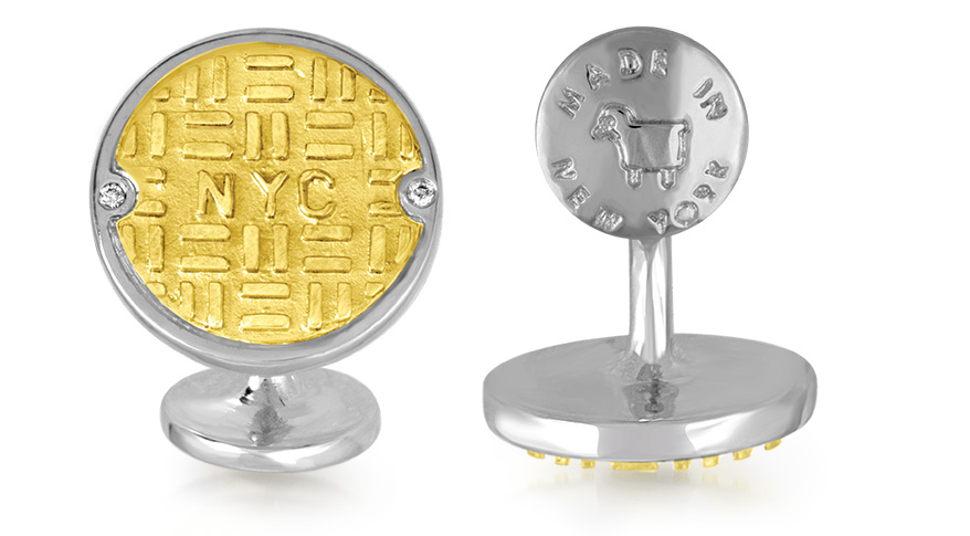 Manhole cufflinks from Julie Lamb