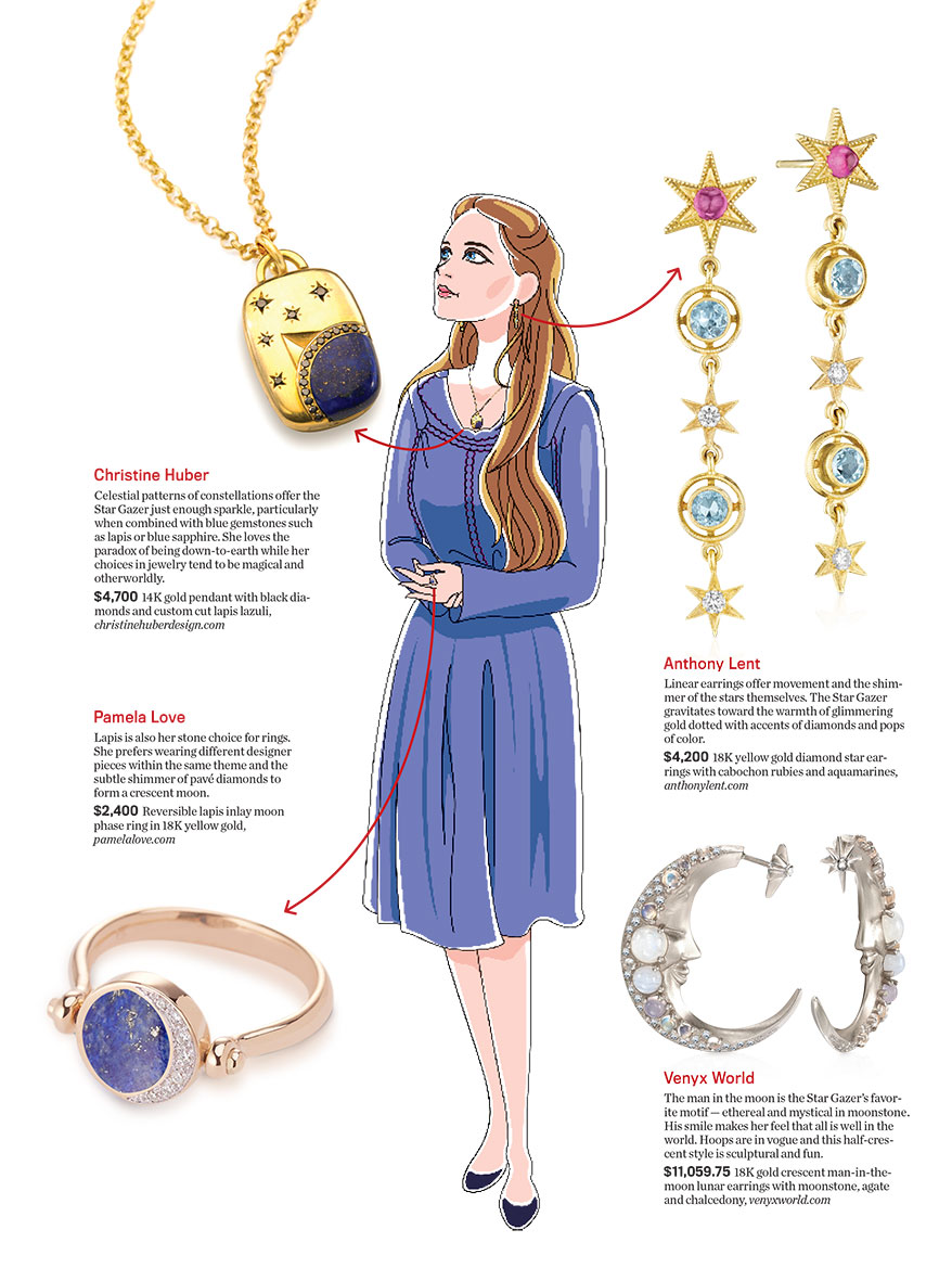 Heavenly Bodies Fill Her Imagination And Her Jewelry Collection