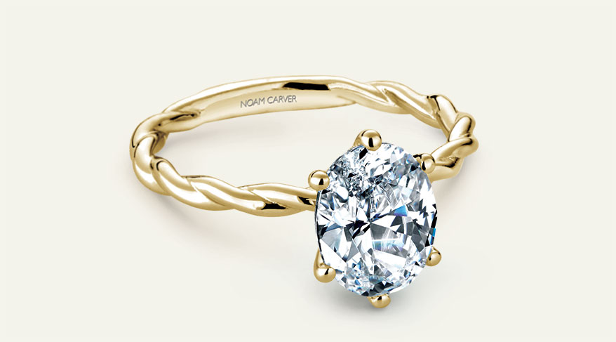 Noam Carver oval engagement ring