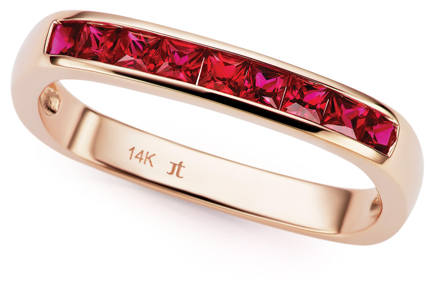 Jane Taylor 14K yellow gold ring with Gemfields rubies