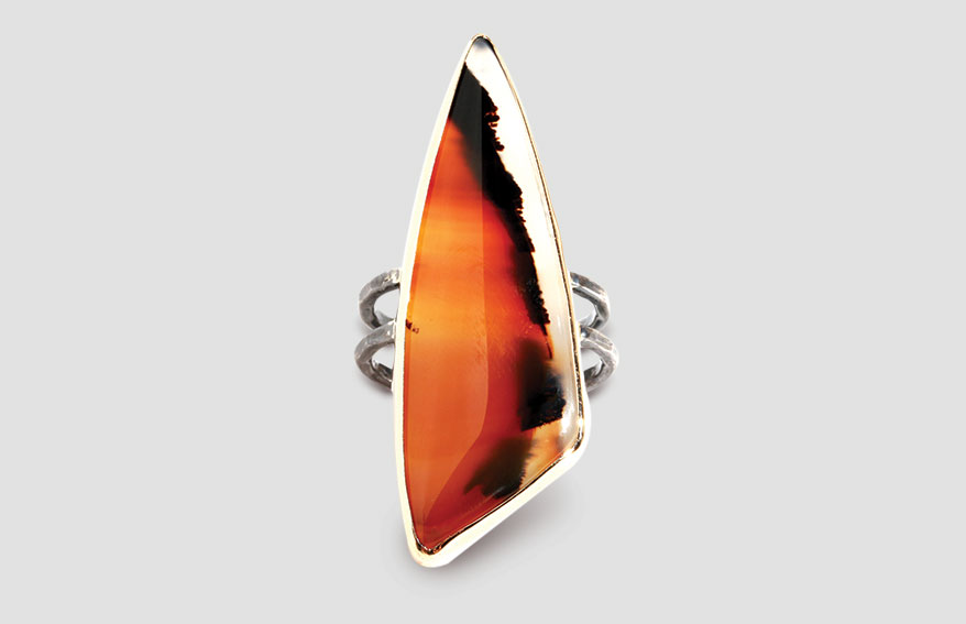 Montana agate double band ring from Melissa Joy Manning