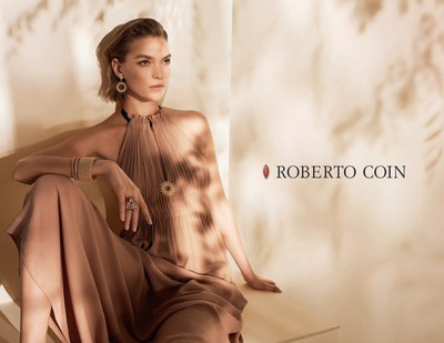 Roberto Coin Launches Ad Campaign with Model Arizona Muse