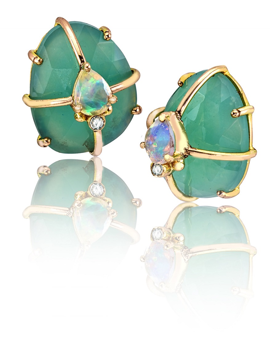 INSTORE Loriann dome earrings 4x4 reflections
