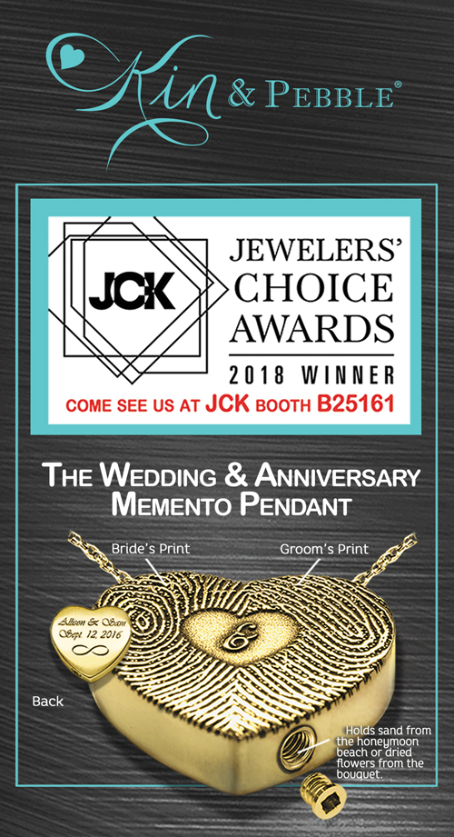 Kin & Pebble Jewelry Awarded 1st Place in JCK's 2018 Jewelers' Choice Awards