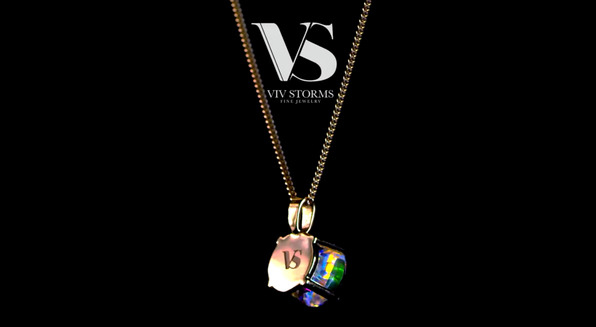 New Jewelry Line from Celeb Vivian Storms Features Art from Cold Glass Artist Jack Storms