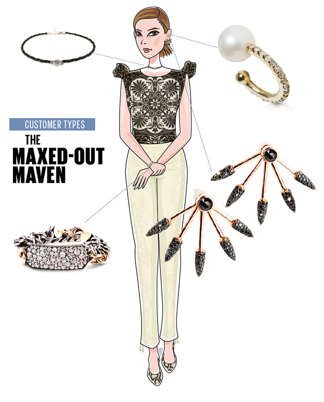 Maxed-out maven jewelry customer
