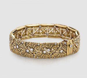Alex Sepkus 18K gold and diamond flexible bracelet