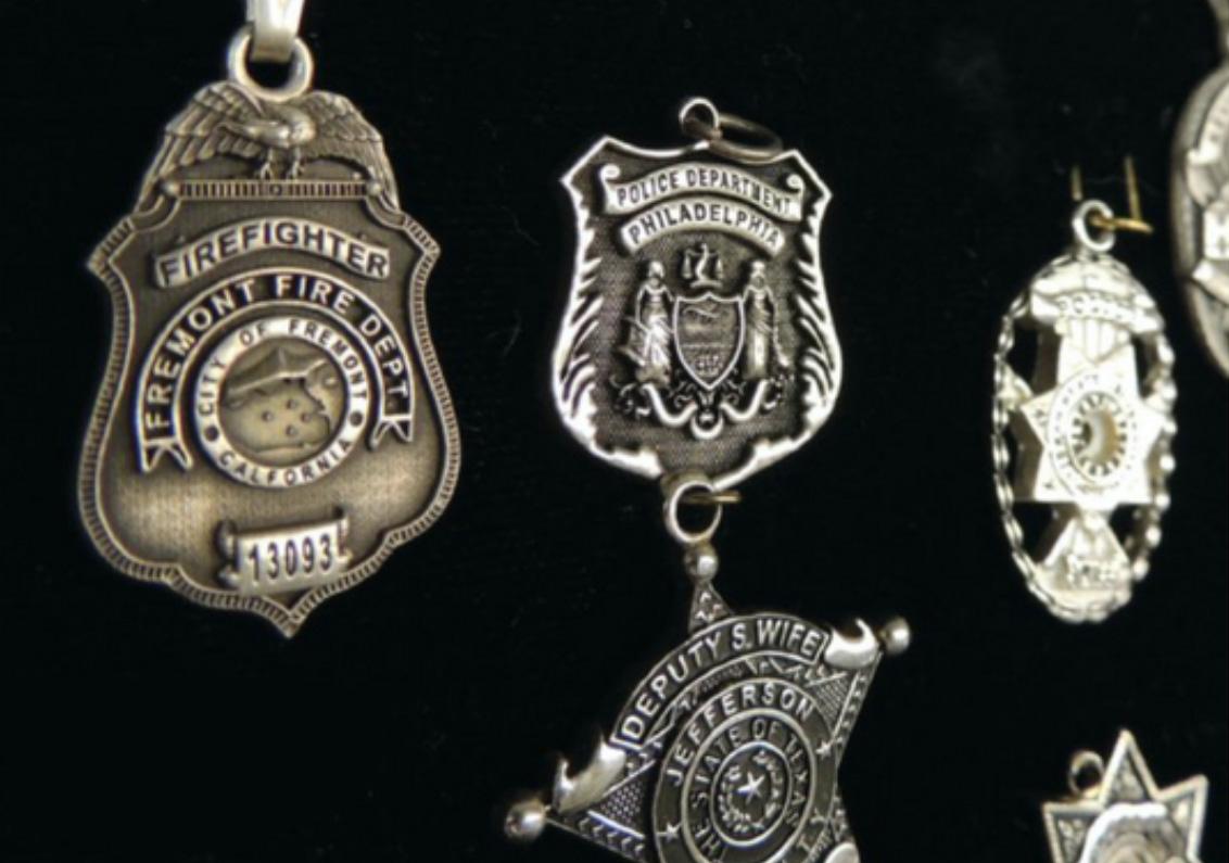 Badges for fallen police officers