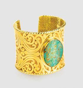 Nina Nguyen Maharani Wisdom cuff with turquoise