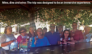 Clients of jewelry designer T Lee on mine trip.