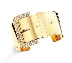 Janis Savitt 18K yellow gold and diamond (1.45 TCW) bracelet