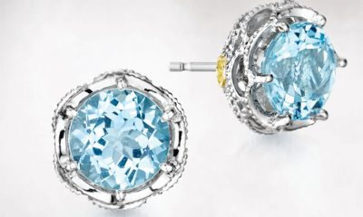 Tacori crescent crown studs