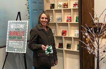 Burnell's Holiday Door Motivates Shoppers