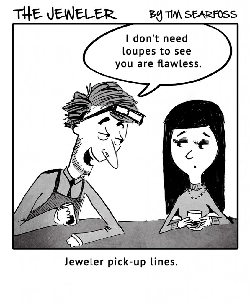 Cartoon: The Jeweler Tries Some Flattery