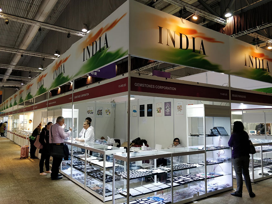India Pavilion with Trendy and Innovative Jewelry at Hong Kong International Shows