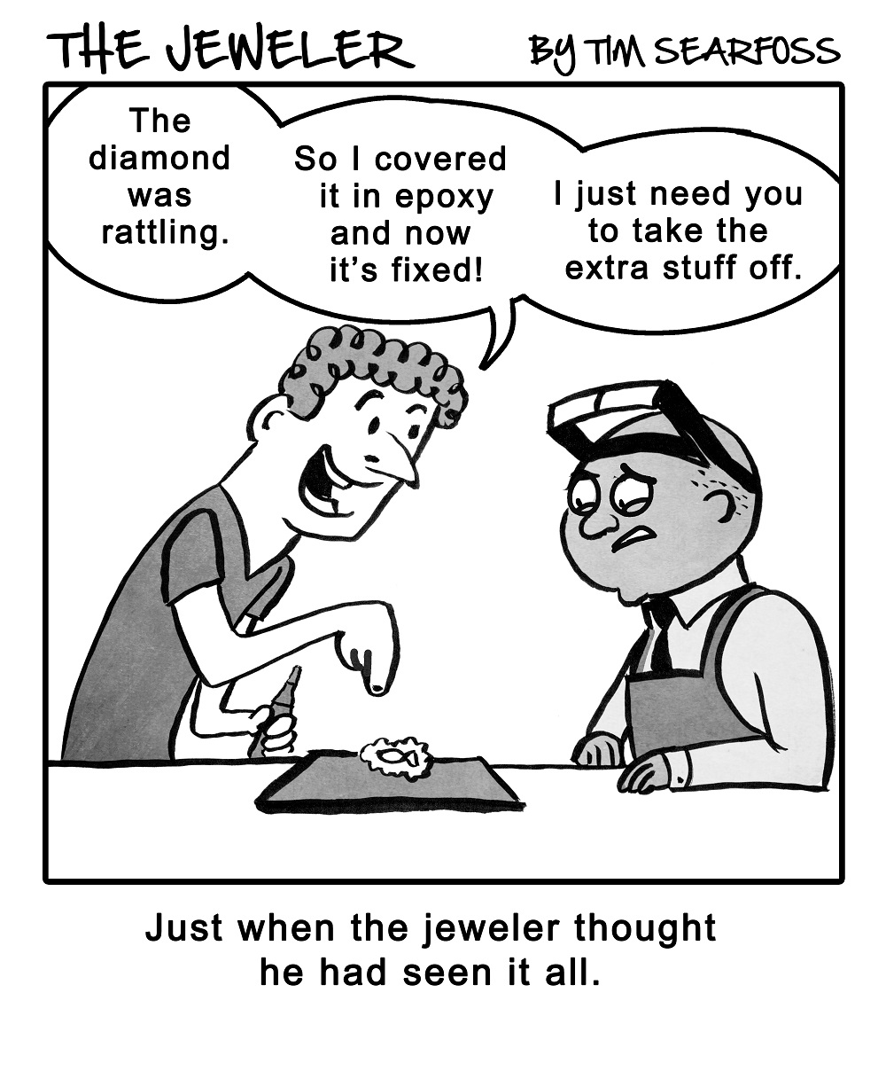 Cartoon: Here's Why DIY Jewelry Repair Is Not a Good Idea