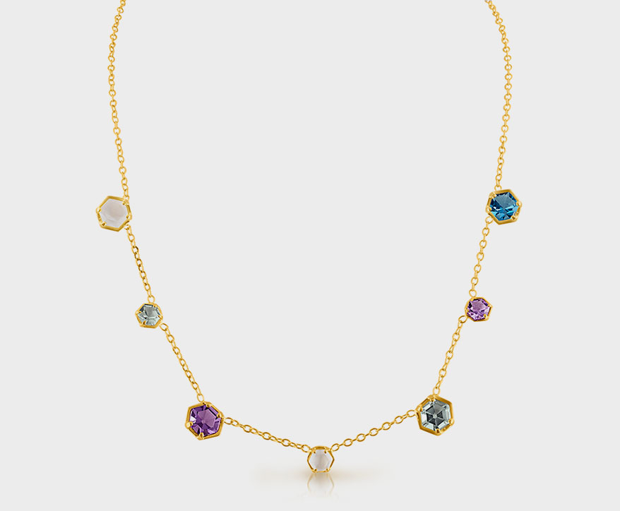 Amy Glaswand 14K yellow gold necklace