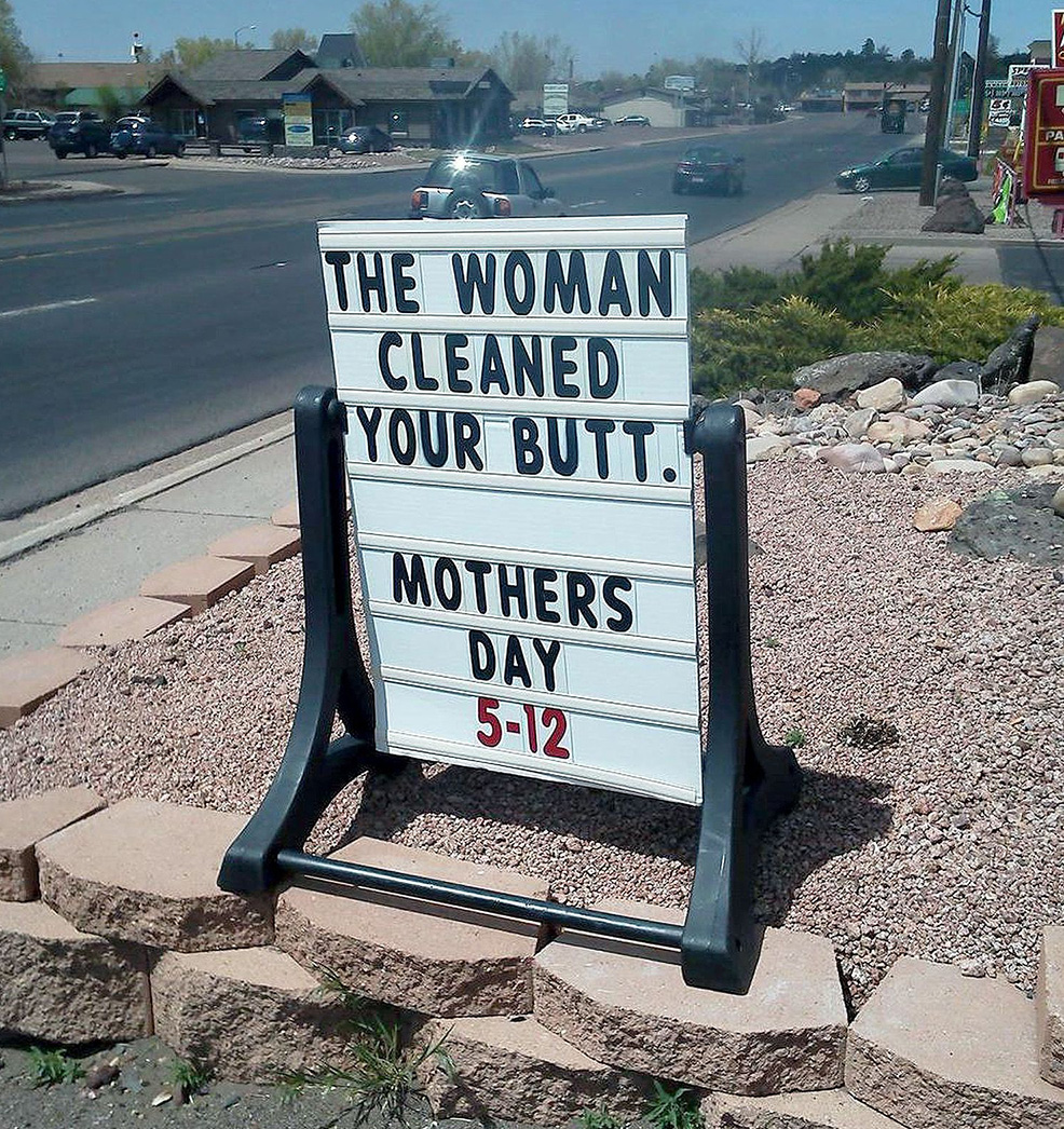 The Hardest Mother's Day Sell Ever … and 14 More Extremely Funny Retailer Signs