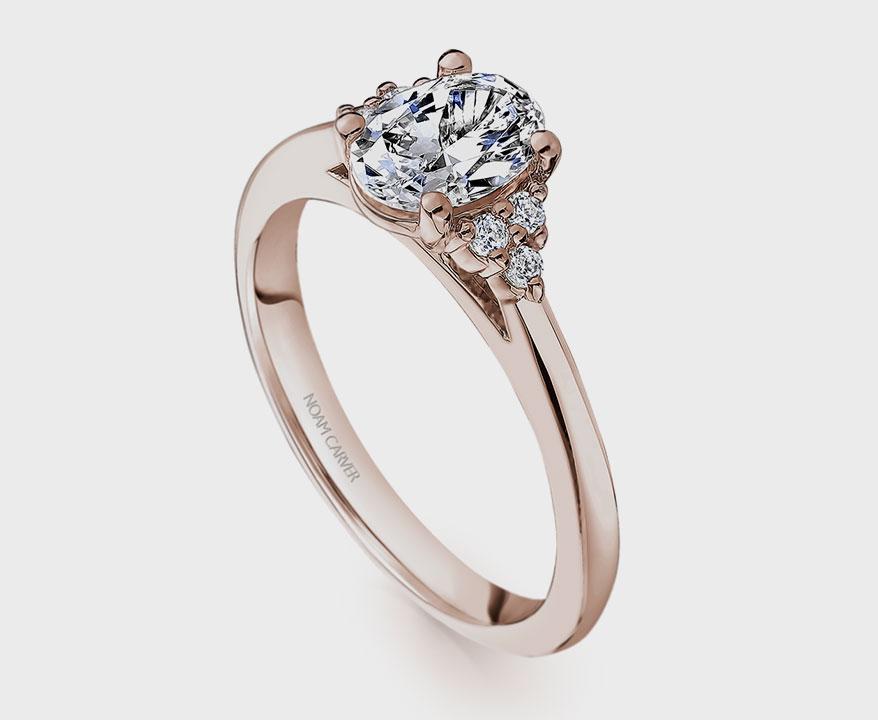 Noam Carver — CrownRing Bridal House 14K rose gold semi-mount
