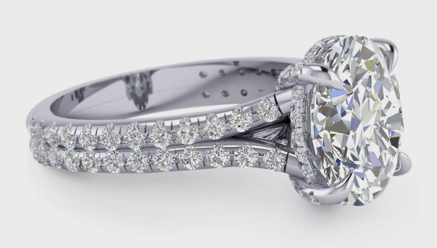 Brooklyn Jewelers platinum semi-mount