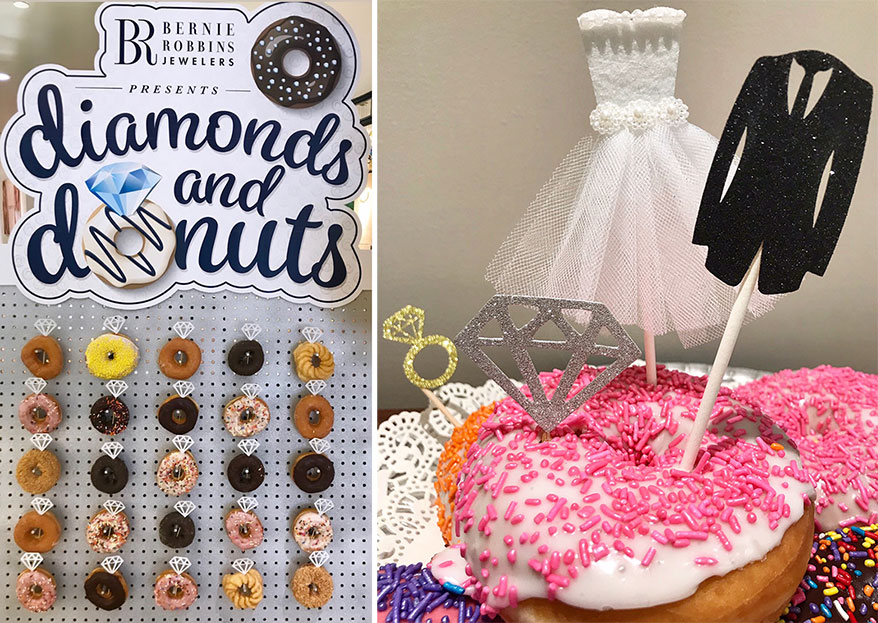 This Retailer Combined Diamonds with Donuts for a Sweet Event