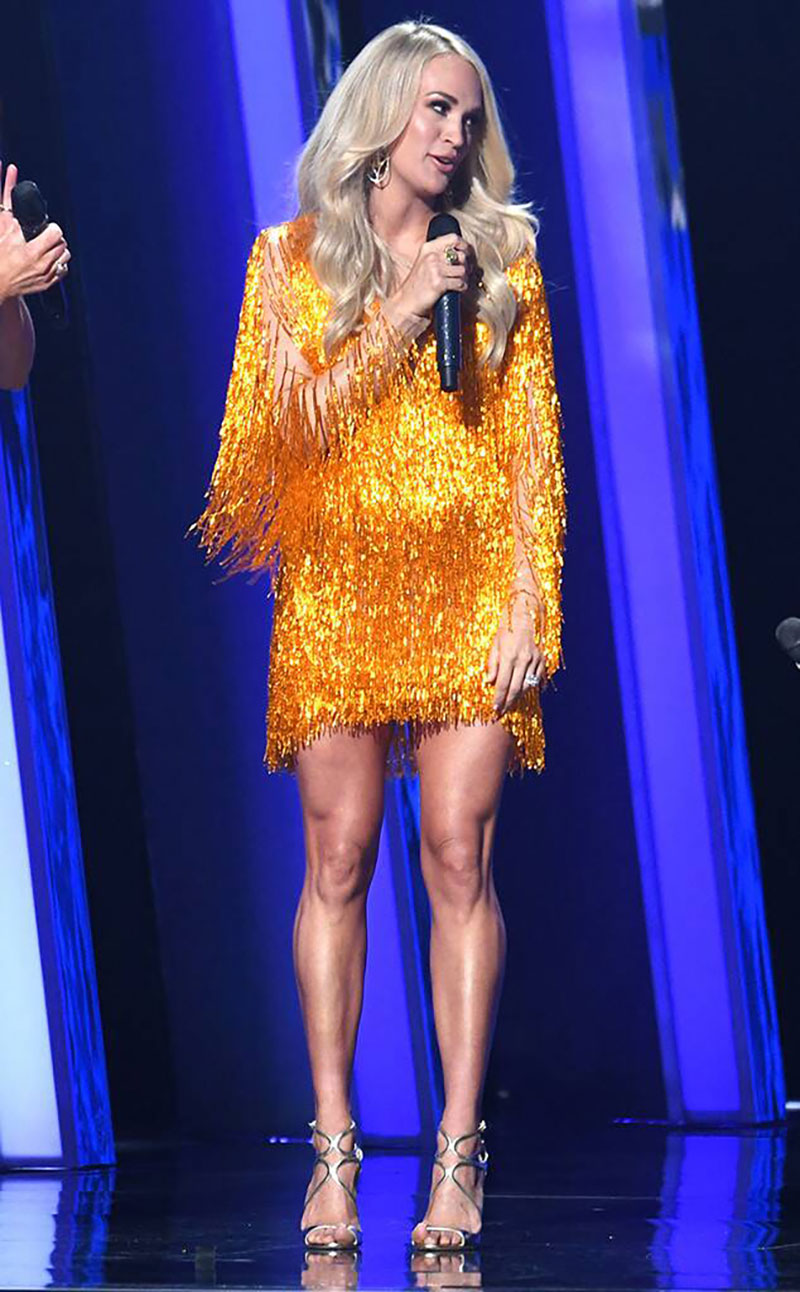 Carrie Underwood Dons 19-Carat Yellow Diamond Ring for Award Show … and More Celeb Jewelry Sightings