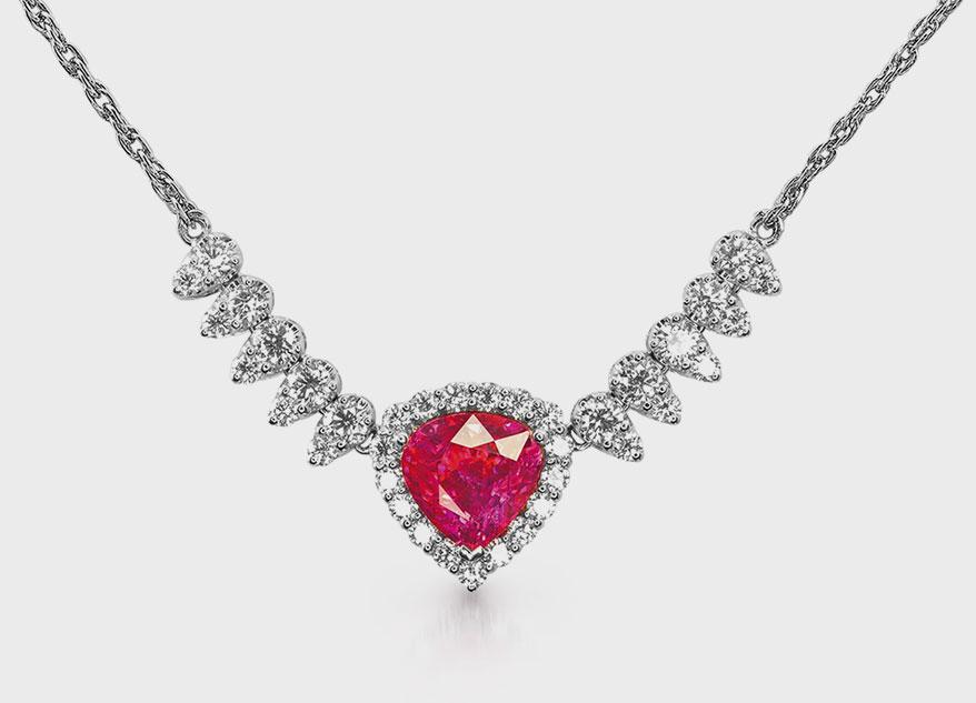 JYE's International ruby diamond necklace