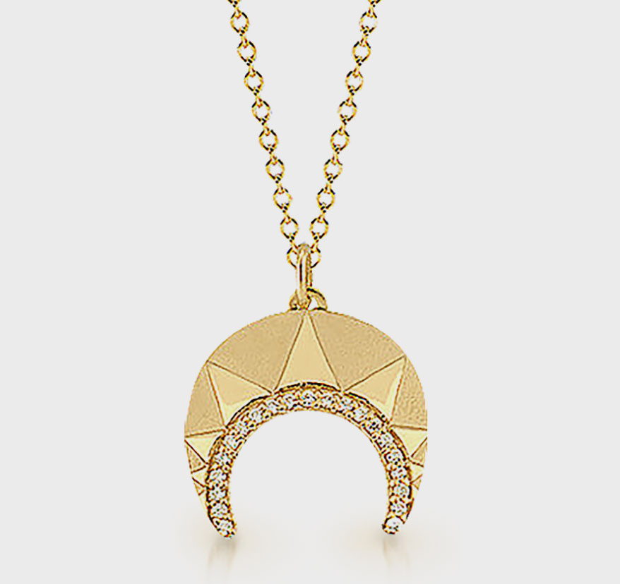 Crescent Horns-Style Pendants Continue to Provide a Shape for Designers