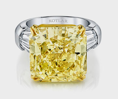 Harry Kotlar 18.92 carat yellow diamond
