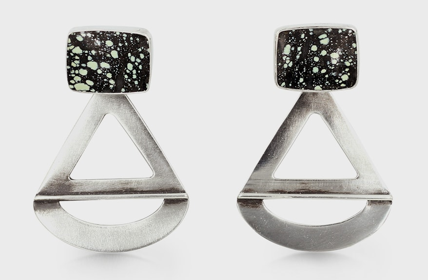 Avery Lee Design Recycled sterling silver and variscite earrings