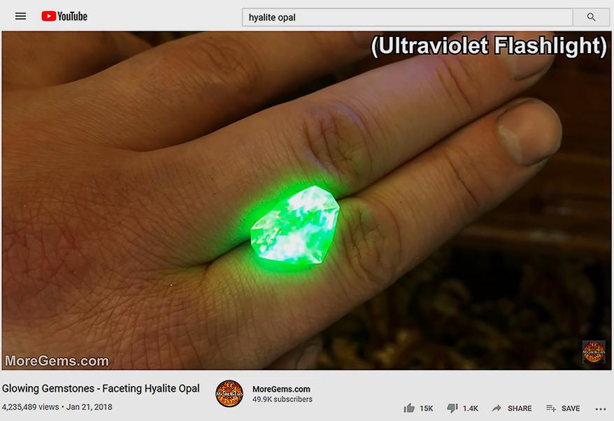 Glowing Hyalite Opal with 4.2MilViews