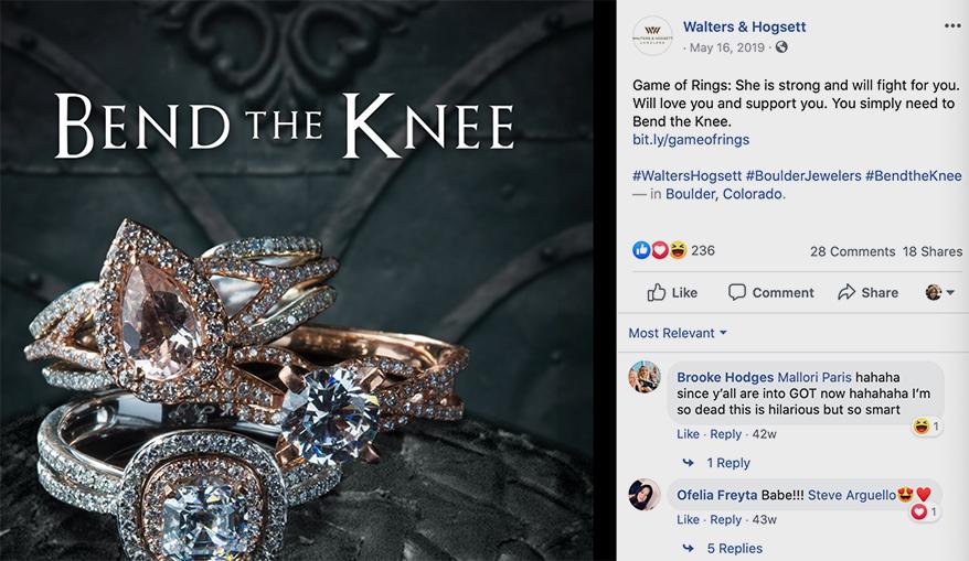 bend the knee Fruchtman Marketing