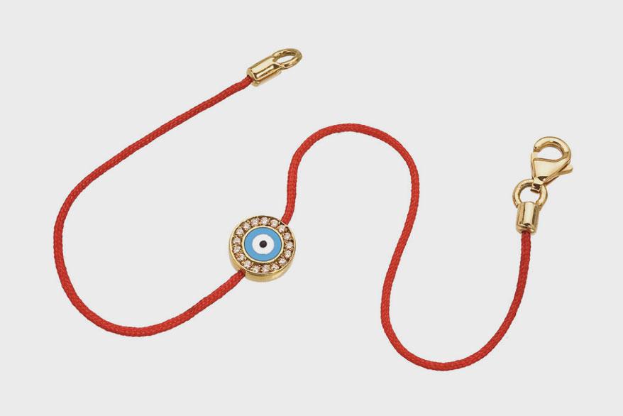 Aaron Basha's Evil Eye Diamond bracelet