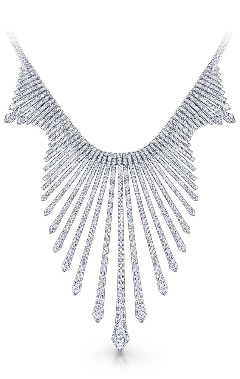 Gabriel & Co. 18K white gold and diamond Amavida necklace