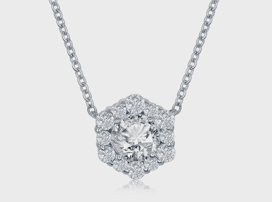 Forevermark 18K white gold necklace with diamond