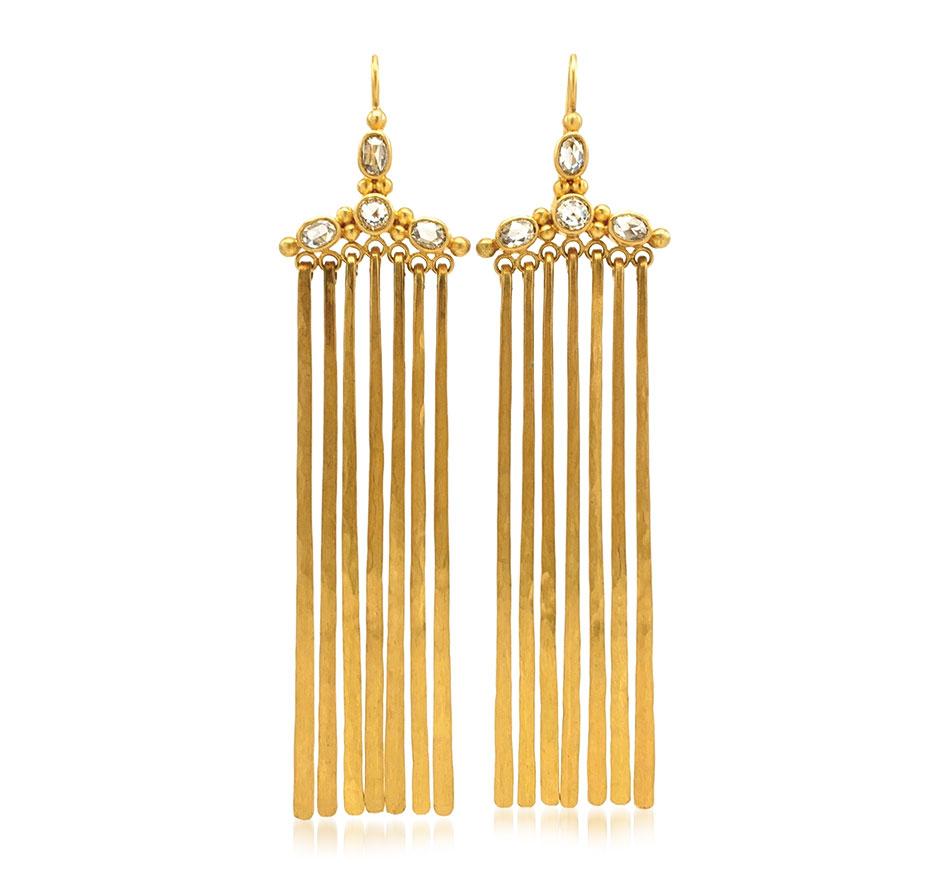 Linda Hoj 22K gold earrings