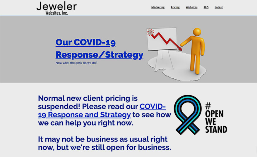 Jeweler experts COVID website