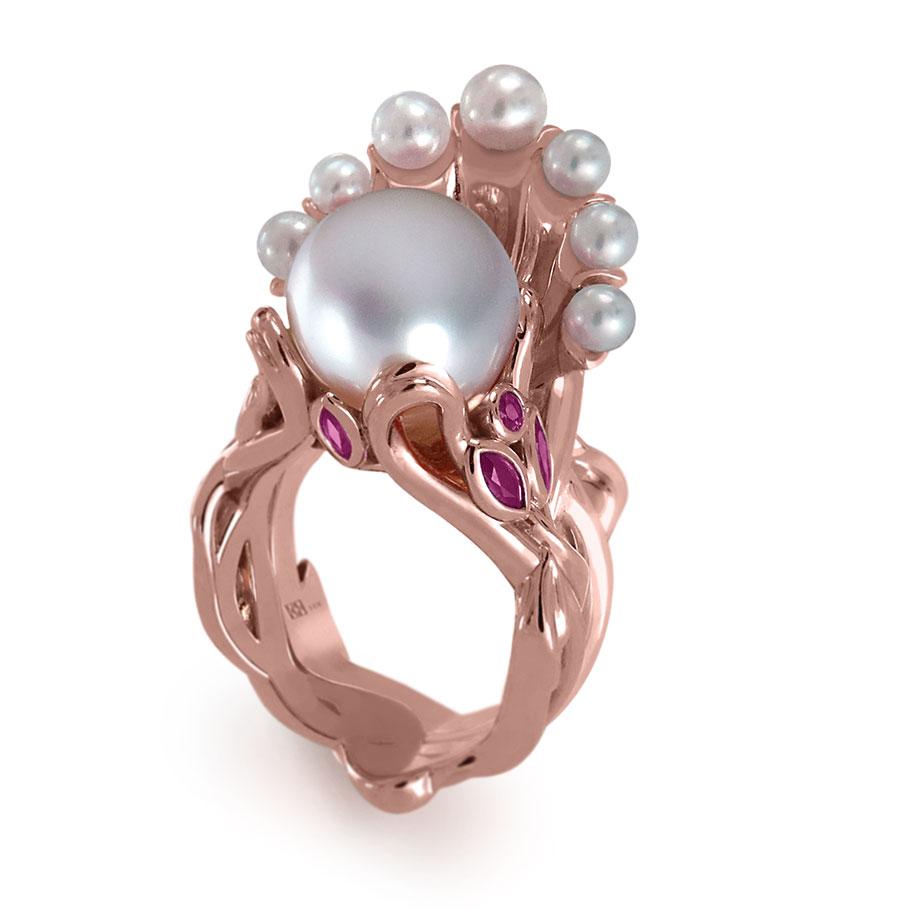 K8 Jewelry Two-piece Titania and Gloriana ring set