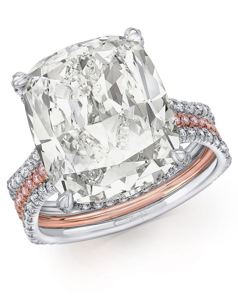 Uneek Jewelry 10.00-carat cushion shape diamond set